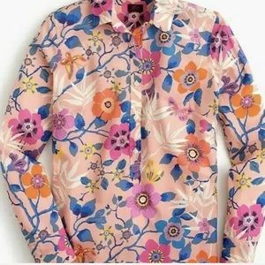 J. Crew Pavillion Floral Popover made in Italy 19'
